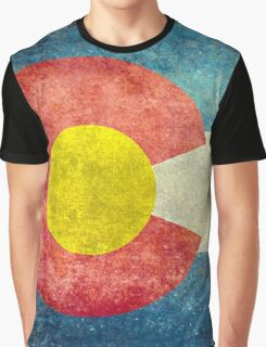 Colorado State Flag with vintage retro style treatment Graphic T-Shirt