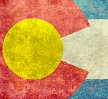 Colorado State Flag with vintage retro style treatment Sticker