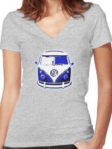 Splittie Graphic Women's Fitted V-Neck T-Shirt
