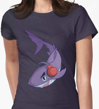 Headphones Shark Womens Fitted T-Shirt