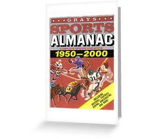 BTTF FRONT COVER ALMANAC Greeting Card