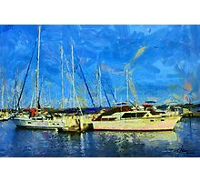 Boats on Ontario Lake Photographic Print