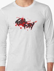 FATAL FURY Blood Splatter T  Long Sleeve T-Shirt