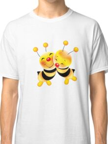 Cut-out of bees in love Classic T-Shirt