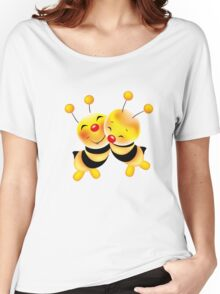 Cut-out of bees in love Women's Relaxed Fit T-Shirt