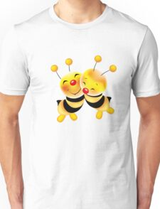 Cut-out of bees in love Unisex T-Shirt