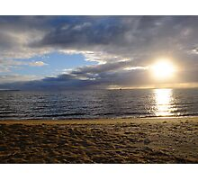 Sun on Sand and Water, Loch Sport, Victoria Photographic Print