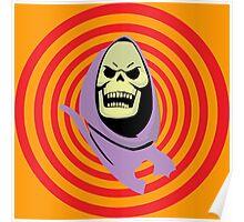 Hypnotic Skeletor - Transparent Swirl Poster