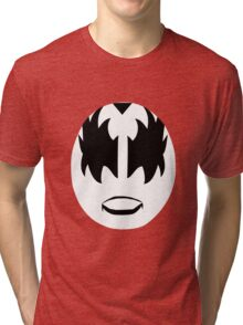 Gene Simmons from KISS band, The Demon makeup Tri-blend T-Shirt