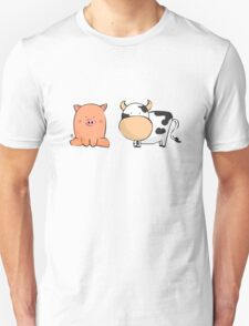 Cute Pig and Cow Unisex T-Shirt