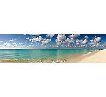 Caribbean pastoral seashore panorama  Photographic Print
