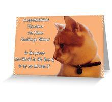 cat challenge winner Greeting Card