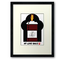 HP Love Sauce - BROWN Framed Print
