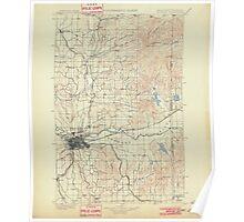 USGS Topo Map Washington State WA Spokane 243944 1901 125000 Poster