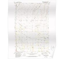 USGS Topo Map Washington State WA Sagebrush Ridge 243558 1979 24000 Poster