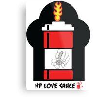 HP Love Sauce - RED Metal Print