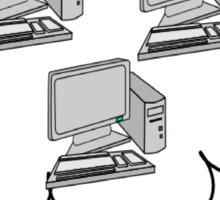 I hate computers Sticker