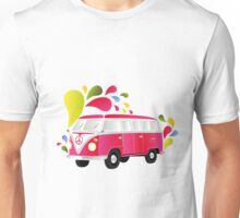 Cut-out of colorful retro splitty Unisex T-Shirt