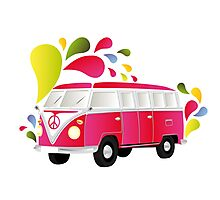 Cut-out of colorful retro splitty Photographic Print