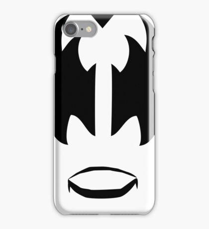 Gene Simmons from KISS band, The Demon makeup iPhone Case/Skin