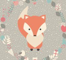 Baby fox pattern 02 Sticker
