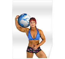 Pin up poster of Female Atlas Poster