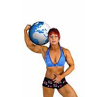 Pin up poster of Female Atlas Photographic Print