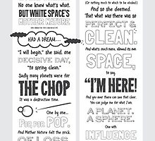 White Space: a (sort of poem) for designers by adamonsea