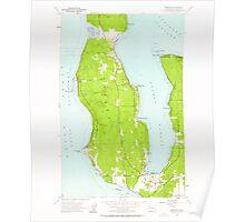 USGS Topo Map Washington State WA Freeland 241213 1953 24000 Poster