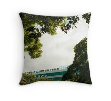 Cruise Ship in Stavanger Throw Pillow