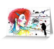 Lora Zombie Greeting Card