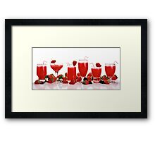 cool and refreshing red strawberry juice Framed Print