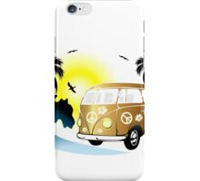 Cut-out of retro on the beach iPhone Case/Skin