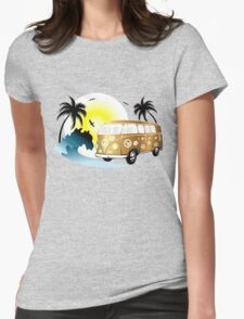 Cut-out of retro on the beach T-Shirt