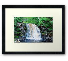 Yorkshire waterfall Framed Print