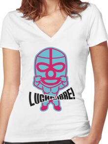 Luchador07 Women's Fitted V-Neck T-Shirt