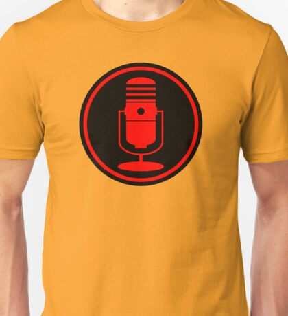 Vintage Red Microphone Unisex T-Shirt