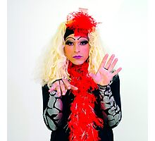 Drag Queen with blond wig Photographic Print