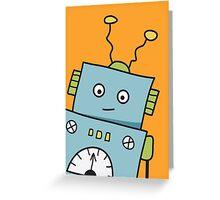 Friendly Blue Robot Greeting Card