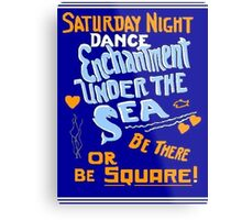 BTTF DANCE FLYER Metal Print