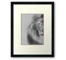 Pencil lion Framed Print