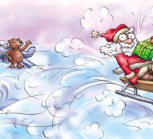 Sata Claus Rushing to You Sticker