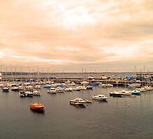 Port Mary Harbour, Isle of Man by Lesliebc