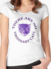There Are No Ordinary Cats Women's Fitted Scoop T-Shirt