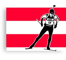 Austria Biathlon  Canvas Print