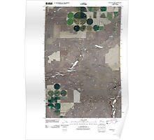 USGS Topo Map Washington State WA Sullivan Lake 20110401 TM Poster