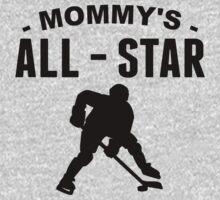 Mommy's All-Star Hockey One Piece - Long Sleeve