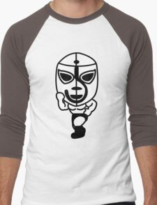 Luchador01 Men's Baseball ¾ T-Shirt