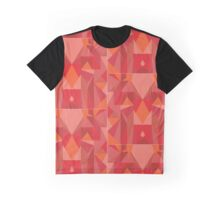 Red Tribal Poly Design Graphic T-Shirt
