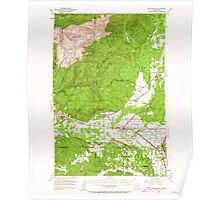 USGS Topo Map Washington State WA Rochester 243491 1953 62500 Poster